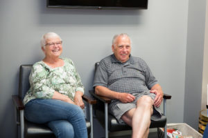 Picture of patients waiting in our lobby.